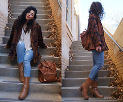 Hope Bidinger - Thrifted Jacket, Thrifted Boots, Sway Chic Backpack - Retro Vibes