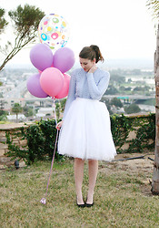 Jade Elise - Diy Skirt - Birthday balloons