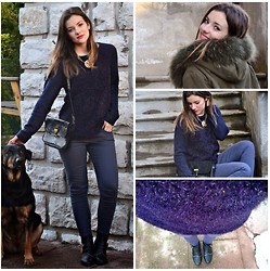 Laetitia - Bershka Jean, New Look Sweater, Camaïeu Boots, New Look Necklace, Burton Coat, Beaugency Bag - Freezy but sunny