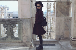 Violet Ell - Thrift Store Coat, Thrift Store Hat, Dr. Martens Boots, Ray Ban Sunglasses - --.02.2013