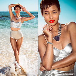 Micah Gianneli - Bikini Atoll Silver Metallic Two Piece - Metallic