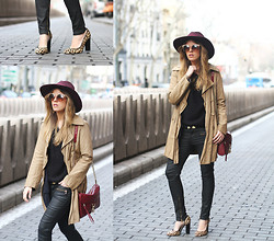 Cabinet in Ruins * - Asos Hat, Zara Trench, Rebecca Minkoff Bag, Free People Sunnies - Trench