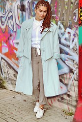 MiKu Fashion - Asos White Oxfords, Vintage Mint Coat - The mint coat