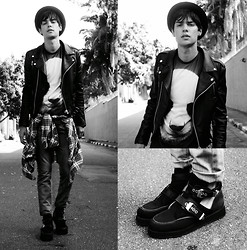Vini Uehara - Mepcy Leather Jacket, Gate64 Jeans, Solestruck Shoes, Mr. Gugu & Miss Go Panda - Panda