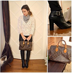 Laetitia - H&M Blouse, Louis Vuitton Speedy 30 - Tuesday