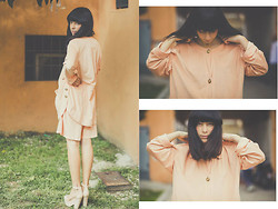 Daria Cimoroni - Vintage Total Look, Zara Plarform - Delicate Morning