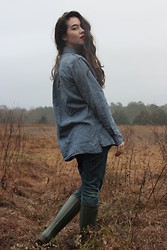 Piper Arielle - Gap Chambray Shirt, Ralph Lauren Rain Boots - Nothing Fancy