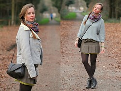 Rimanere Nella Memoria - Miss Sixty Skirt, Replay Jacket, Tchibo Sweater, Boots - Brown & Grey