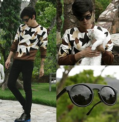 Vini Uehara - Livo Eyewear Sunglasses, Choies Sweater, Guidomaggi Paris - In The Garden