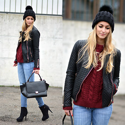 Vanessa Ciliberto - Sheinside Sweater, Chic Wish Bag, Grieder Zürich Beanie, Zara Jacket - Cozy winter look