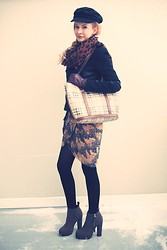 Magdalena Krupa - H&M Hat, H&M Scarv, Zara Jacket, Burberry Bag, Dress, Nly Trend Shoes - A little bit of this, a little bit of that