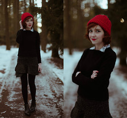 The Clothes Horse R - Hat, Skirt, J. Crew Cuts Sweater, Seychelles Seychellesboots - Resolve