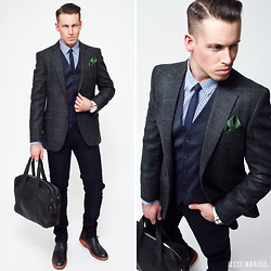 Jesse Maricic - Moschino Pocket Square - Business Casual