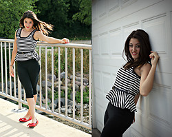 Amanda Warda - Poetry Peplum Top, Blow Fish Red, Bow Flats...Dorothy's Red Slippers ;) - There's No Place Like Home