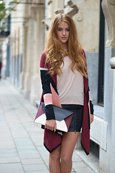 Lara Rose Roskam - Bcbg Clutch, Bcbg Long Sleeved Cardigan - MATCHING COLORS