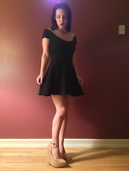 Danielle Gold - Nasty Gal Dress, Jeffrey Campbell Shark Shoes - The Dark Night