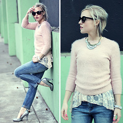Hales Titus - Forever 21 Heels, Anthropologie Necklace - Layering Lace
