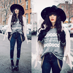 Rachel-Marie Iwanyszyn - Jacket, H&M Suspenders, Jeffrey Campbell Boots, The Orphans Arms Sweater - KEEP LOVERS NOT FRIENDS.