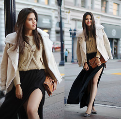 Adriana Gastélum - Sheinside Wool Lapel Coat, Oasap Clutch, Full List Of What I'm Wearing - That time of the day