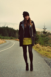 Emma Whyte - Zara Coat, All Saints Knit, Alice And Olivia Skirt, Zara Beanie, Zara Boots - Winding Road