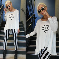 Samii Ryan - United Couture Shirt, Forever 21 Leggings, Jeffrey Campbell Heels, By Samii Ryan Accessories - Gratitude