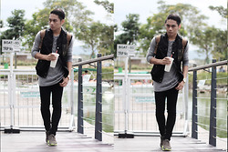 Miko Carreon - Thread 365 Shirt, Forever 21 Vest, Topman Pants, Nike Shoes, H&M Bag - Military Patch