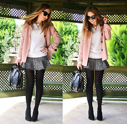Coco Bolinho - Zara Coat, Juicy Couture Necklace, Zerouv Sunnies, Vjstyle Bag, Choies Skirt, Mango Heels - KICK UP YOUR HEELS