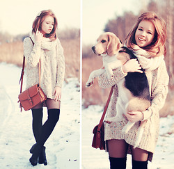 Wioletta Mary Kate - Bershka Bag, Chic Wish Sweater, Vagabond Shoes - Warm Braid Sweater 01.02