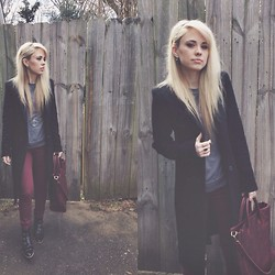 Mary Ellen Skye - Modern Vice Boots, Juicy Couture Pants, Madewell Bag, Forever 21 Sweatshirt, Zara Coat - Going Places