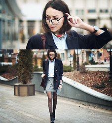 Bea G - Choies Skirt, Blazer, Shoes, Shirt - I'm Too Busy To Care