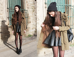 CLAUDIA Holynights - Asos Beanie, Zara Old Parka - But still I'd leap in front of a flying bullet for you