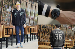Miko Carreon - Breo Watch, Thread 365 Shirt, H&M Varsity Jacket - Golden Eyes