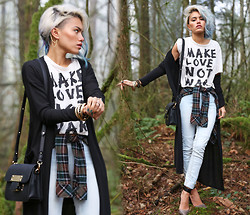 Alanna Durkovich - Volcom Flannel, Forever 21 Crossbody Bag, Aldo Heels - Get Graphic in a Forest