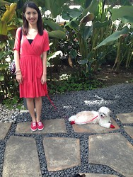 Blanche King - Rose Dress, Keds Red, None Red Shoes Pour Ma Dog - Amour et Beauté (OUI? NON? D'accord)