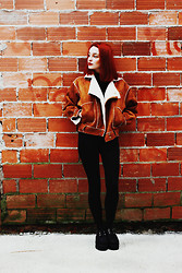 Eugenia V. Tenenbaum - Jollychic Jacket, Primark Pants, Oasap Creepers - 73. DON'T BE ANOTHER FUCKIN' BRICK IN THE WALL.