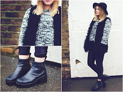 Lily Melrose - Forever 21 Gilet, Vagabond Boots - Sleeping sickness