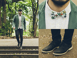 Anderson Gimenez - Noir, Le Lis Blazer, Mandi E Co Shirt, Zara Bow Tie, Zara Jeans, Cns Shoes - The Secret Garden