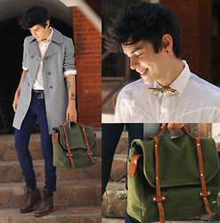 Vini Uehara - B. Luxo Trench Coat, Menlook Bag, Amp A Mulher Do Padre Shirt, Guidomaggi Sapatos, Ramalama Bow Tie, Rum Jungle Pants - A Safe Place