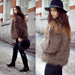 Heidi Caterina - Savannah Faux Fur, Savannah Hat, Zara Pants, Make Way Boots - CHIC FOR COLD