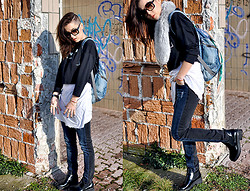 2 in da House . - Zara Croptop, H&M Jeans, Marc By Jacobs Sunglasses, Vintage Backpack - WINNER crew