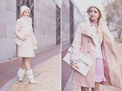 Olga Choi - Choies Coat, Choies Bag, Choies Skirt, Asos Watch, Handmade Hat - Cold never bothered me anyway