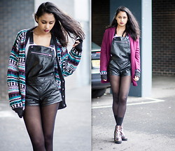 Alida Leclercq - Topshop Coat, Forever 21 Overalls, Missguided Shoes - The High
