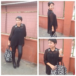 Dolap Perisi - Mango Bag, Batik Shirt - Black