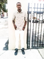 Donovan Mccollum - Obey All White Pants, H&M Tan Shirt, Fossil Black Watch - Days turn to dust