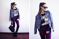 Sofia Reis - Zerouv Sunnies, Sheinside Jacket, Sheinside Sweater, Vesst Pants, Zara Bag, Wholesale7 Boots - WAITING GAME