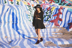 Judy L - For Love & Lemons Dress, To Be Announced Pony Ride, Forever 21 Concho Hat - Wonderland