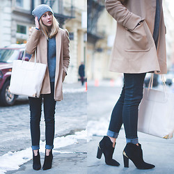 TIPHAINE MARIE - Alexander Wang Tote, Zara Coat, Sigerson Morrison Booties - NYFW - SOHO