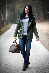 Elly E. - Hollister Parka, Mavi Jeans, Louis Vuitton Bag, H&M Shoes - Casual shades
