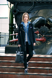 Nena F. - Asos Biker Coat, Asos Denim Jacket, Marc By Jacobs Bag - A denim layer