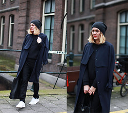 Adenorah M - H&M Trench - Adenorah - Navy + black